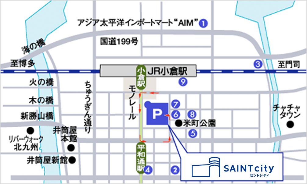 周辺駐車場案内図